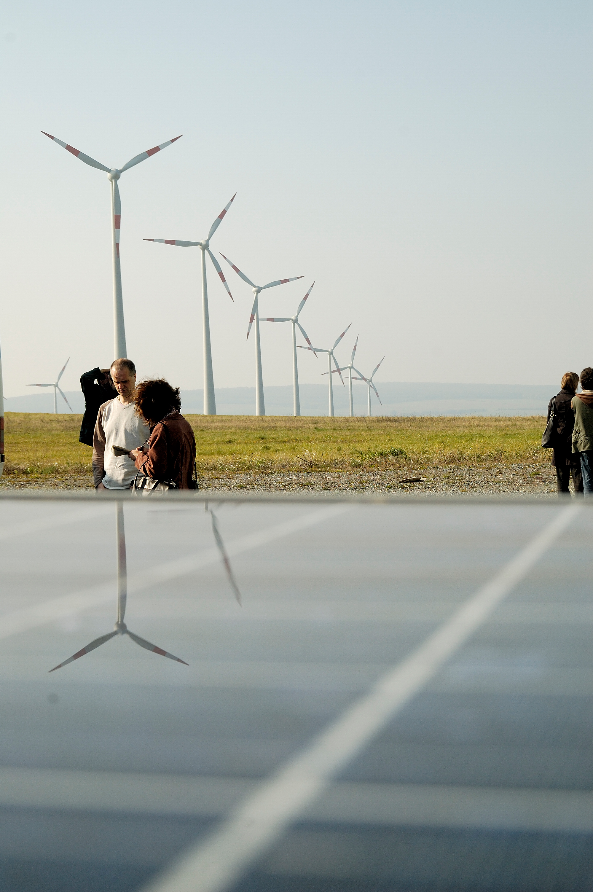 Windpark und Photovoltaik