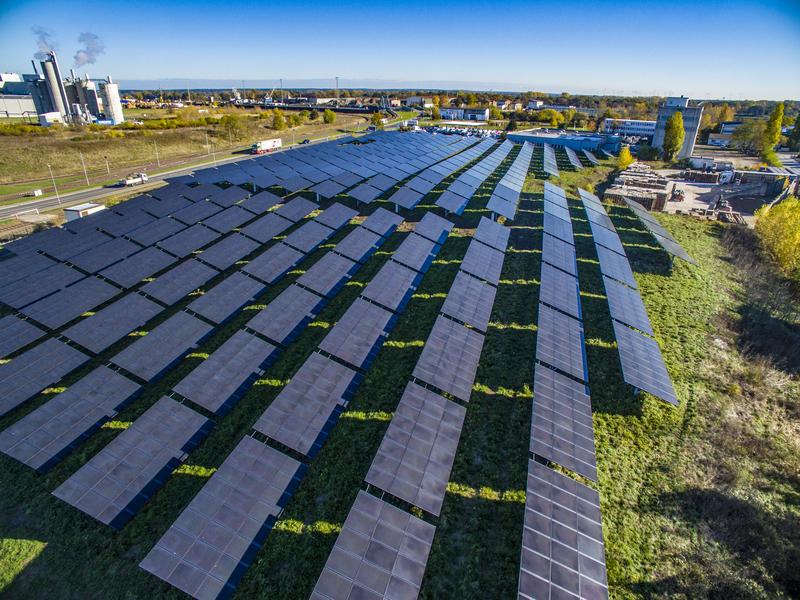 Genossenschaftlicher Solarpark in Magdeburg (Foto: Helionat eG)